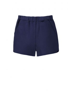 Damen Stepp Baumwoll Shorts in Dunkelblau