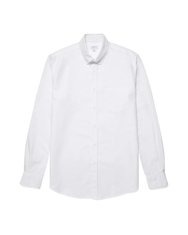 Herren Oxford Button-Down Hemd in Weiß